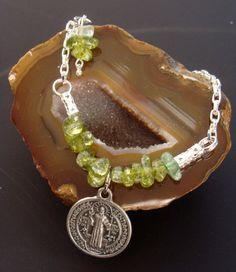Peridot Inner Light Bracelet coupled with by ParanormalProtection, $20.00