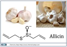 Allicin and the benefits of garlic - Chemistry Steps Garlic Benefits, Water Benefits, Chemistry Lessons, Water Effect, Henna Tattoo Designs, Health Care, Treats, Vegetables, Tattoos