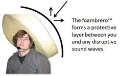 The Rapid E-Learning Blog - foambrero to diffuse sound waves behind you