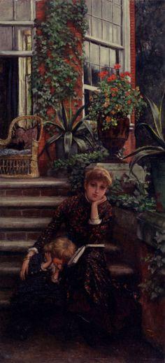 Older Sister, James Tissot  Medium: oil, panel