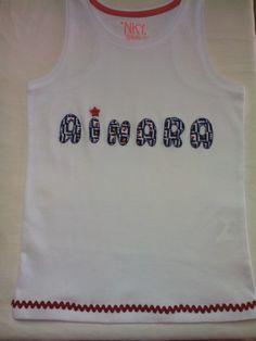 ARTE&JOYAS de PRINCESAS: Camisetas Ainara y Mara Camisetas Personalizadas con el nombre de nuestras princesas es una camiseta sin mangas y detalle de piquillo. Espero que os guste.