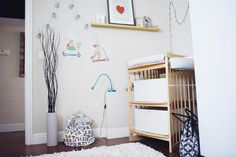 """JOIE DE VIVRE"" NURSERY STYLE  featuring Stokke Care Changing Table in Natural"