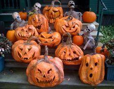 Paper mache pumpkins, how cute