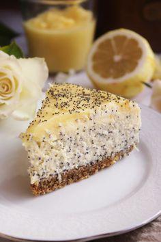 Mákos-citromkrémes sajttorta | Ízből tíz Super Healthy Recipes, Sweet Recipes, Cookie Recipes, Dessert Recipes, Philadelphia Torte, Xmas Food, Sweet Desserts, No Bake Cake, Quiche