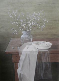 Stilleven, schilderij/painting van/by Bob Bosma, Heiloo