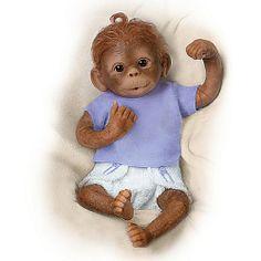 Poseable Monkey Baby Doll: Jo Jo - Realistic Baby Dolls