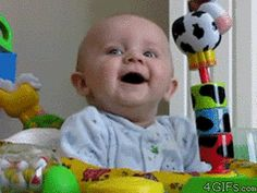 TO STARTLE means to scare someone suddenly. A laughing baby is STARTLED by something.