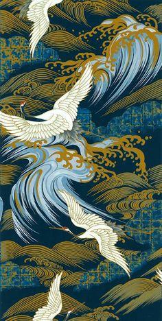 Japanese Asian Sewing Quilting Fabric Kona Bay by Shiboridragon