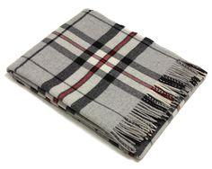100/% pure laine Shetland Bronte canapé throw Tapis Couverture-Huntingtower gris