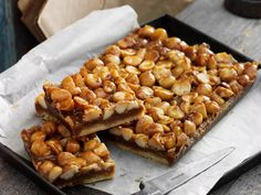 This classic caramel slice with the crunch of macadamias is perfect with that morning or afternoon cuppa.