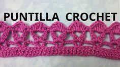 Puntilla N° 24 en tejido crochet tutorial paso a paso.