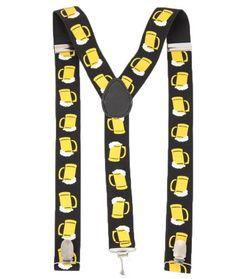 Oktoberfest Suspenders with Beer Mugs