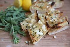 Herbed Feta Garlic Bread from Our Best Bites (and how to make easy compound butters) Garlic Herb Butter, Garlic Bread, Garlic Minced, Vegetarian Side Dishes, Vegetarian Recipes, Healthy Summer Snacks, Summer Treats, Side Dish Recipes, Bread Recipes