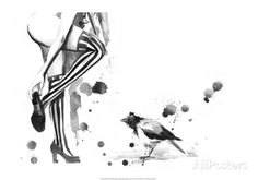 White Stripes Poster von Lora Zombie bei AllPosters.de