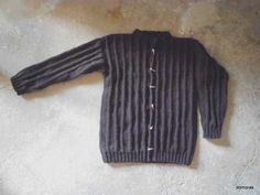 CORLEONE, Strickanleitung einer Herrenstrickjacke in Wolle bei domoras