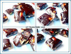Caramels mous au cacao, citron & fruits secs