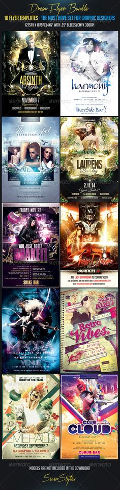 Contemporary Flyer Template  Party Events Flyer Template And