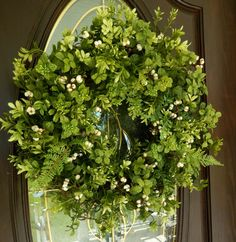 Spring Wreath   Boxwood  Wreath  Wreath  Woodland by forevermore1, $89.00