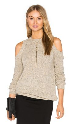 Chapter Sweater by Rebecca Minkoff. 65% extra fine merino wool 30% nylon 5% alpaca. Hand wash cold. Shoulder and back cut-outs. Ribbed trim. RMIN-WK4. F1...