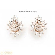 Diamond Earrings for Women in 18K Gold VVS Clarity E-F Color -Indian Diamond Jewelry -Buy Online Diamond Earrings For Women, Diamond Dangle Earrings, Diamond Earing, Women's Earrings, Diamond Jewelry, Diamond Jhumkas, Designer Earrings, Indian Jewelry, Clarity