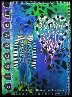 Miranda van den Bosch on THE DYAN REAVELEY ART JOURNALING Gateway FB Group... ♡♡the colors!!
