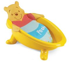 Summer Infant Disney Stacking Pooh Bath Tub - Click image twice for more info - See a larger selection of  Baby bath tubs and seats   http://zbabybaby.com/category/baby-categories/baby-bathing-and-skin-care/baby-bathing-tubs-and-seats/ - gift ideas, baby , baby shower gift ideas, kids « zBabyBaby.com