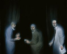 The Three Oncologists, Portrait Gallery Edinburgh, by Ken Currie