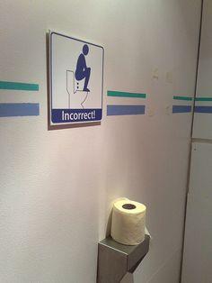 Toilet warning sign by James Nash (aka Cirrus), via Flickr