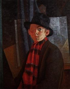 """""""Autoportrait"""" - Jean Dallaire , Oil on canvas, , 75 x 61 cm. Oeuvre D'art, Les Oeuvres, Abstract, Philippe, Painting, Musée National, Oil, Canvas, Art"""