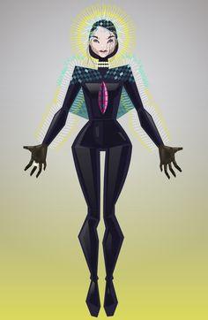Björk Vulnicura Digital drawing by Julia Vereenoghe
