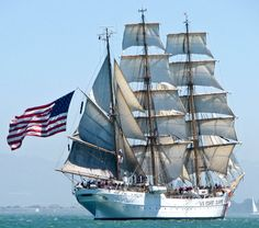 USCG Barque Eagle — Yacht Charter & Superyacht News - USCG Barque Eagle – New SF Marina Pier to host Tall Ships as part of a bicentennial celebration o - Moby Dick, Old Sailing Ships, Port Aransas, Us Coast Guard, Armada, Submarines, Luxury Yachts, Wooden Boats, Tall Ships