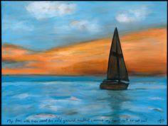 set sail. original sold. acrylic on canvas. prints available. www.jodihills.net