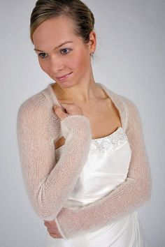 71b7b44674c4d5 Knitting Pattern Wedding Shrug for your wedding dress, knit your own jacket:  model for 3 kind of wool diy your bridal cardigan knitted