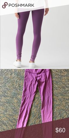 Purple ombré lulu lemon leggings Purple ombré lulu lemon leggings! There just wrinkled because I just washed and dried them. There in great condition I barely wore them because I live in warm weather now! lululemon athletica Pants Leggings