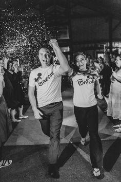 Fake snow wedding reception exit.  Alternative to sparkler exit. Port Angeles Wedding Photographer Danielle Keith
