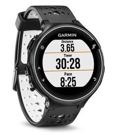 Garmin Forerunner 230 - Black/White Stay on pace for your next personal record with Forerunner the GPS and GLONASS running watch with smart Its Garmin Vivosmart Hr, Gps Sports Watch, Waterproof Fitness Tracker, Running Watch, Fitness Watch, Bicycle Accessories, Watches, Watch Faces, Christmas 2015