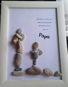 "Product name ""dreamteam"" pebble picture worked on glass frame .- Produktname ""dreamteam"" Kieselsteinbild auf Glasrahmen gearbeitet mit den Maßen… – DIY Ideen Product name dreamteam pebble picture on glass frame worked with the dimensions - Diy Father's Day Gifts, Father's Day Diy, Diy Christmas Gifts, Christmas Christmas, Pebble Pictures, Stone Pictures, Father Birthday Gifts, Gifts For Father, Wallpaper World"