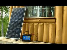 Simple Solar Power System for an off grid Cabin - YouTube