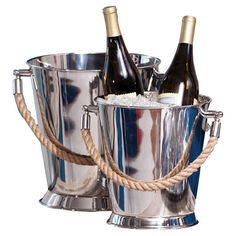 Showcasing natural rope handles and a stainless steel finish, these refined ice buckets are ideal for bringing a touch of sophistication to your next garden ...$207
