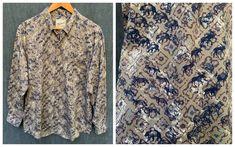 80s Woolrich Shirt All Cotton Wild Animals Nature Outdoorsman | Etsy Butterfly Kids, Mocha Brown, Bear Men, Kids Apron, Beautiful Patterns, Vintage Shirts, Wild Animals, Men Casual, Shirt Dress