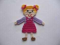 Crochet For Kids, Crochet Baby, Apocalypse Now, Hello Kitty Crochet, Der Arm, Little Doll, Applique Patterns, Crochet Dolls, Crochet Flowers