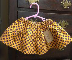 LSU polka dot twirl skirt by small habit https://www.facebook.com/smallhabit
