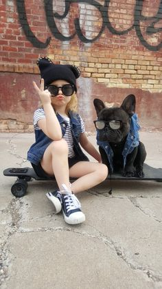 Rollin with my Homie 🐕🎀✌ Fashionista Kids, Bestfriends, French Bulldog, Chill, Hipster, Style, Beat Friends, Swag, Hipsters