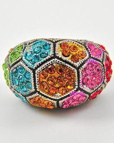Multi Color Rhinestone Ring $12