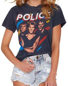 77f562ce Women's Summer Shirt The Police T Shirt Rock Punk Girls Short Sleeve Round  Neck Hip Hop Punk Print tshirt camisetas mujer tops