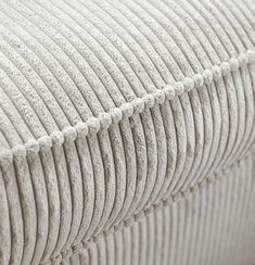 Corduroy Couch, Home Salon, Ribbed Fabric, Home Living Room, House Plans, Ottoman, Upholstery, New Homes, Room Decor