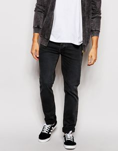 """Jeans by Pepe Jeans Stretch denim Distressed wash Low-rise Zip fly Tapered leg Slim fit - cut closely to the body Machine wash 98% Cotton, 2% Elastane Our model wears a 81cm/32"""" regular and is 185.5cm/6'1"""" tall"""