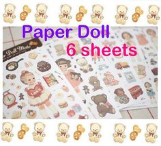 Paper doll mate sticker Vintage doll