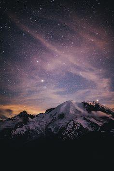 Chasing Stars at Mount Rainier by Jared Atkins