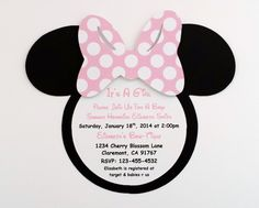 Minnie Mouse Baby Shower Invitations by MyPartyLove on Etsy, $15.00